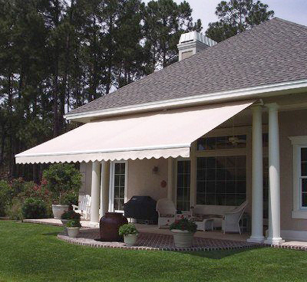 Residential retractable awning.